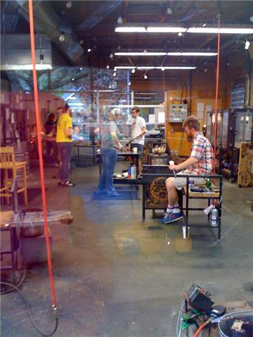 Glass blowing at Glassybaby