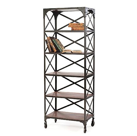 hudson metal factory bookshelf chic industrial furniture