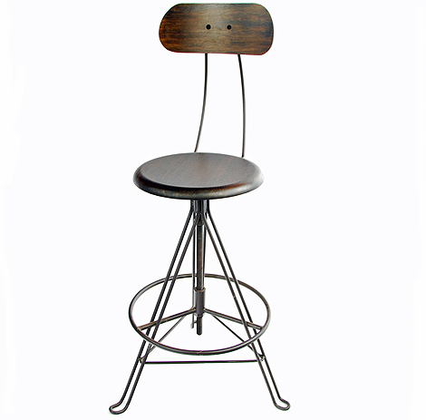 Hudson - industrial work stool