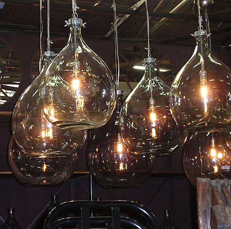 Hudson - industrial glass bottle lighting