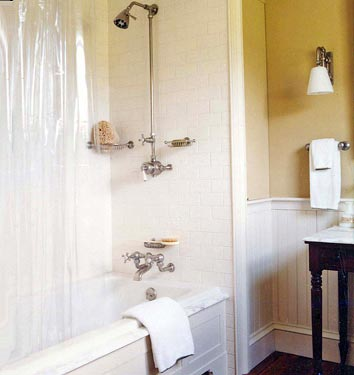 Subway tile + beadboard - Domino