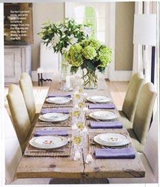 Thanksgiving table ina style farmhouseurban - Ina garten main house ...