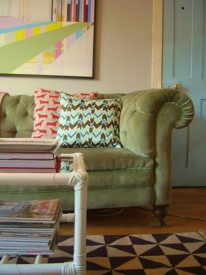 Green chesterfield - nest