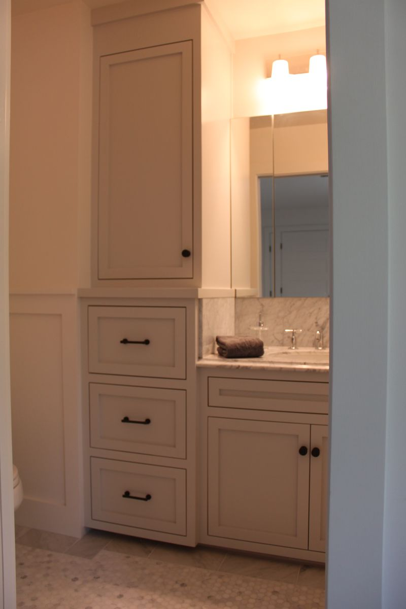 Teen bathrooms revealed farmhouseurban for Bathroom linen cabinets