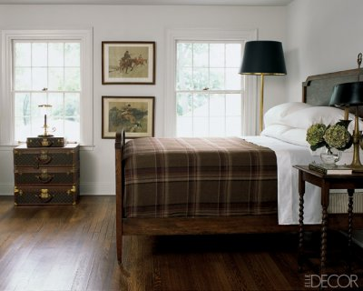 Plaid bedroom - Badgley Mischka - Elle Decor
