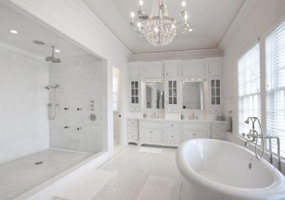 All white bathroom - mls watermill, ny