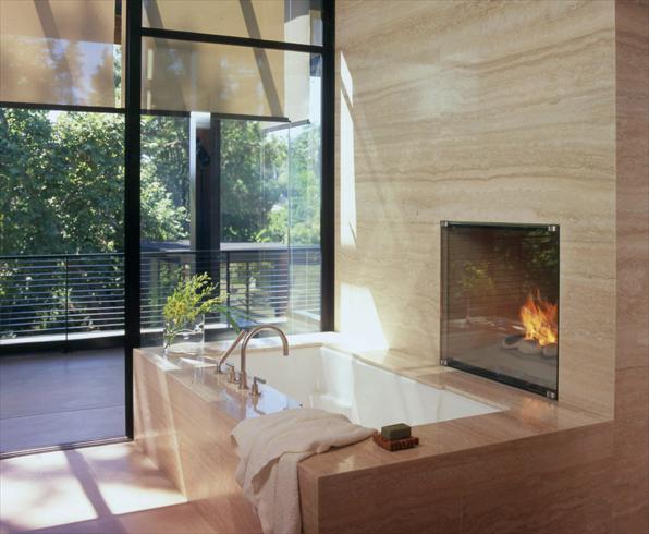 Bath w fireplace - william hefner