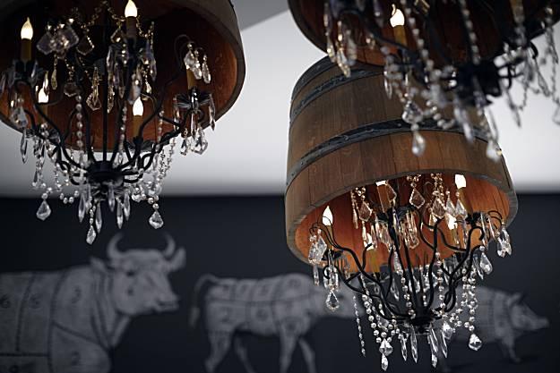 Wayfare tavern wine barrel lights