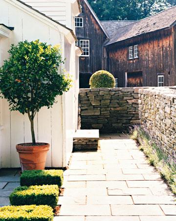Garden pavers _ white exterior