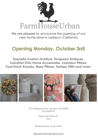 FarmHouseUrban opening flyer