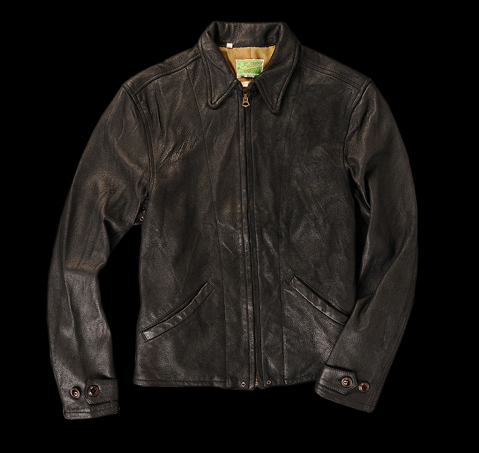 1930's Leather Jacket in Black