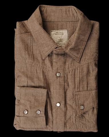 Billy Reid Heirloom James shirt in Brown