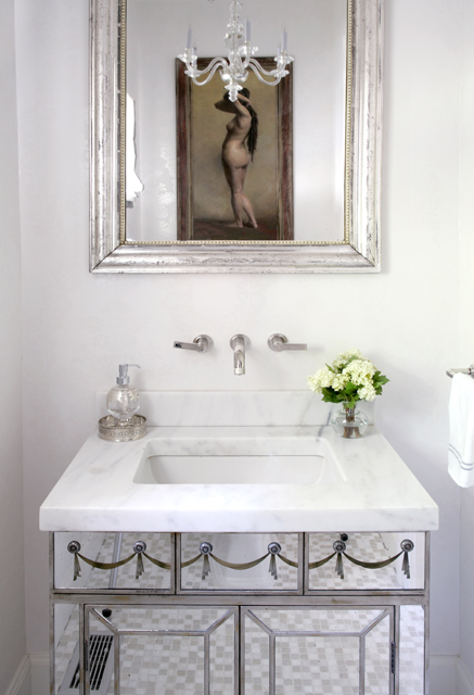Mirrored vanity - hampton design