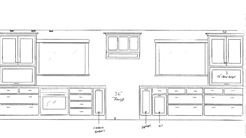 Cabinetry - window wall