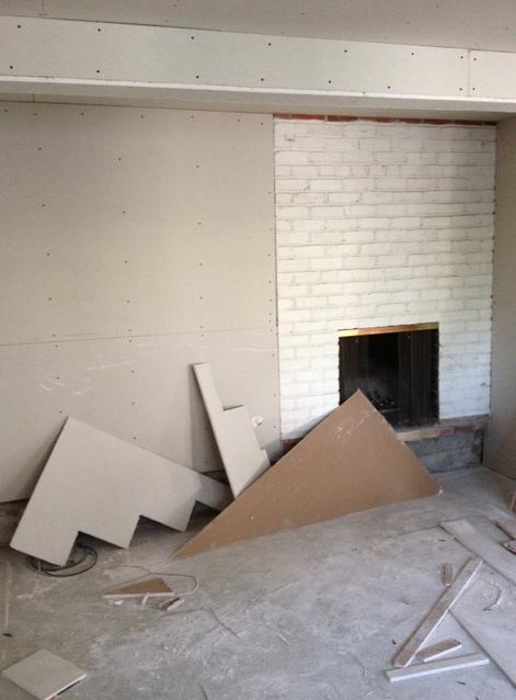 Basement fireplace - before