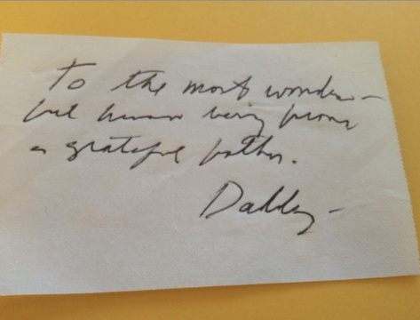 Daddy note
