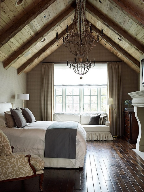 Pitched ceiling bedroom