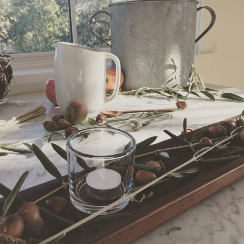 rustic tabletop styling